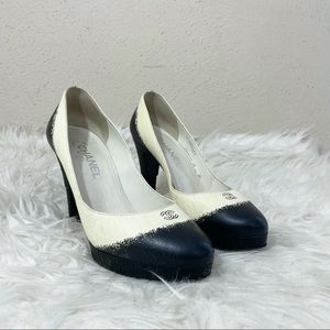 Chanel CC Two Tone Heels Size 39.5